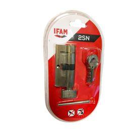 Ifam 35 /35 Anti-Snap Nickel Thumb Turn Euro Cylinder Lock