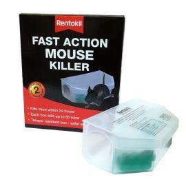 Rentokil Fast Action Mouse Killer - 2 Pre-Baited Boxes