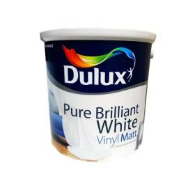 Dulux Vinyl Matt Paint - Pure Brilliant White 2.5L