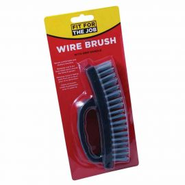 Fit For The Job 4 Row Wire Brush With Grip Handle