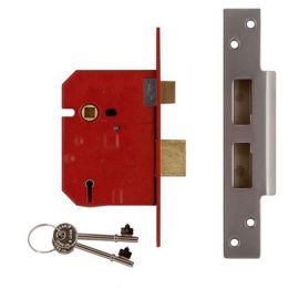 "Union Assa Abloy 2 Lever Mortice Door Lock - 2.5"" Chrome"