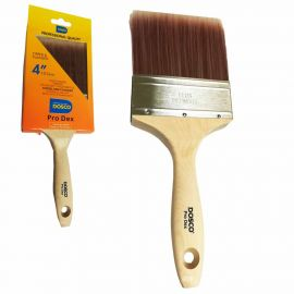 """Dosco Pro Dex Tipped Synthetic Paint Brush - 4"""""""