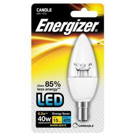 Energizer 6.2W LED Clear Candle Small Bayonet Cap B15/ SBC Light Bulb