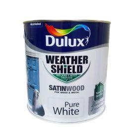 Dulux Weathershield Satinwood Paint - Pure White 2.5L