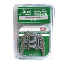 ALM Spring Greenhouse Wire Glazing W Clips - Pack of 50
