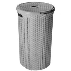 Curver Style Round Grey Laundry Hamper - 48L
