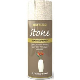 Rust-Oleum Textured Stone Effect Bleached Stone Spray Paint - 400ml