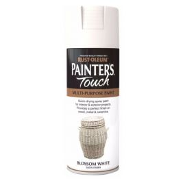 Rust-Oleum Painters Touch Spray Paint - Blossom White Satin 400ml