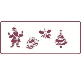 350mm x 140mm Border Stencil - Christmas Theme