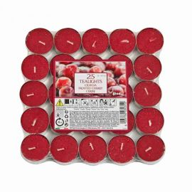Aladino Frosted Cherry 25 Tea Lights