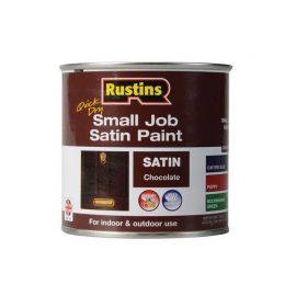 Rustins Quick Dry Small Job Satin Paint - Chocolate 250ml