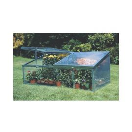Double Lid Cold Frame / Mini Growhouse - Silver Finish