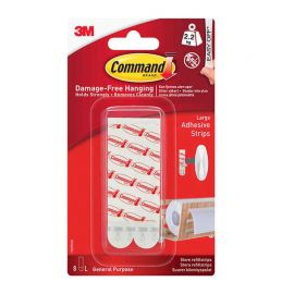 Command™ Picture Hanging Strips - 4 Pairs Large White - 2.2kg