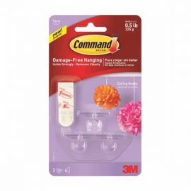 Command Party Ceiling Hooks 3 hooks, 4 strips