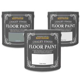 Rust-Oleum Chalky Finish Floor Paint - 2.5L