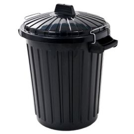 Curver Black 70L Refuse Dustbin