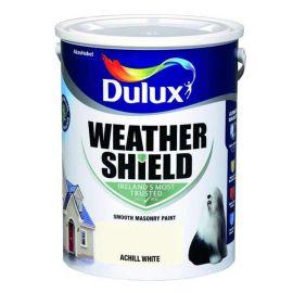 Dulux Weathershield Smooth Masonry Paint - Achill White 5L