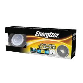 Energizer 5W Chrome Gimbal Tilt Cool White Downlights - Pack Of 3