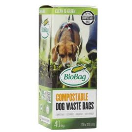 BioBag Biodegradable Dog Waste Bags - Pack of 40