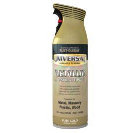 Rust-Oleum Universal All-Surface Spray Paint - Pure Gold Metallic 400ml