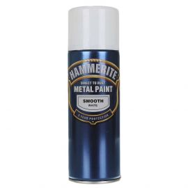 Hammerite Direct To Rust Metal Spray Paint - Smooth White 400ml