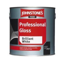 Johnstones Trade Professional Gloss Paint - Black 2.5L