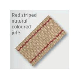 Red Striped Jute 85mm (Price per Metre)
