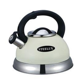 Steelex Whistling Kettle - 2.7L Cream