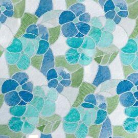 D-C-Fix Lisboa Blue Flower Transparent Self-Adhesive Contact - 2m x 45cm