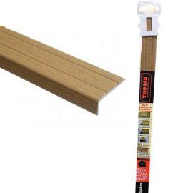 Trojan Self-Adhesive Angle Edge Profile - 25 x 8 x 0.9m Natural Oak