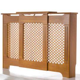 Tema Classic Adjustable Oak Radiator Cabinet / Cover - Large