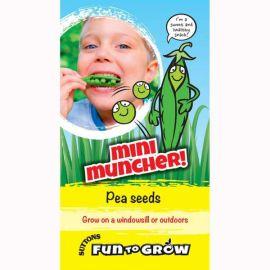 Fun To Grow Pea Seeds - Mini Muncher (Tom Thumb) - Pack Of 25