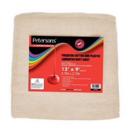 Petersons Predator Cotton and Plastic Dust Sheet - 12ft x 9ft