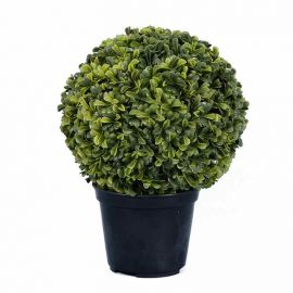 Artificial Green Hedge Plant In Pot - 28cm