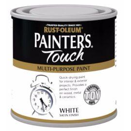 Rust-Oleum Painter's Touch Interior & Exterior White Satin Multi-Purpose Paint 250ml