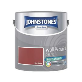 Johnstones Wall & Ceiling Soft Sheen Paint - Red Spice 2.5L
