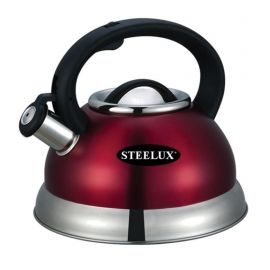 Steelex Red Whistling Kettle - 2.7L
