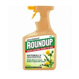 Round Up No Glyphosate Natural Weedkiller Spray - 1L