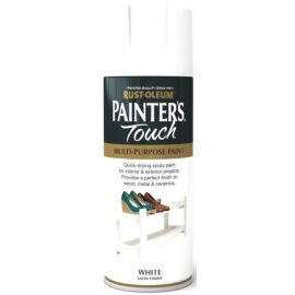 Rust-Oleum Painters Touch Spray Paint - White Satin 400ml