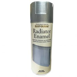 Rust-Oleum Radiator Enamel Silver Metallic Finish Spray Paint - 400ml