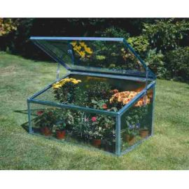 Garden Cold-Frame With Single Lid - Silver Finish