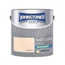 Johnstones Wall & Ceiling Soft Sheen Paint - Soft Cream 2.5L