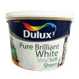 Dulux Vinyl Soft Sheen Paint - Pure Brilliant White 10L