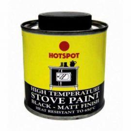 Hotspot High Temperature Black Matt Stove Paint - 100ml