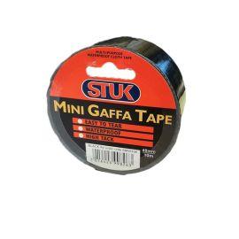 Stuk Mini Black Gaffa Tape - 48mm x 10m