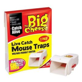 The Big Cheese Live Catch Mouse Traps - 2 Pack