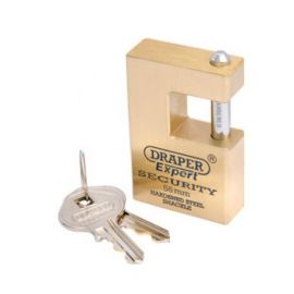 Draper High Security Rectangular Brass Padlock 56mm
