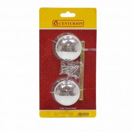 Centurion Chrome Plated Victorian Mortice Furniture Door Knobs