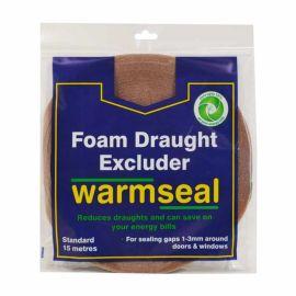 Warmseal Brown PVC Foam Draught Excluder - 15m