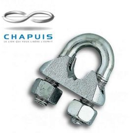 Chapuis 8mm Wire Rope Stirrup Clips - Pack of 2